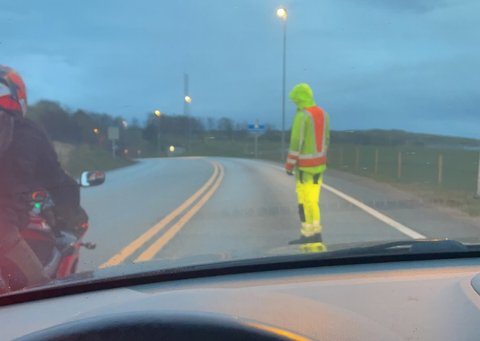 Byfjordtunnelen ble stengt i minst en halvtime onsdag morgen.