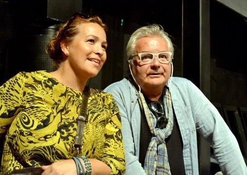 """PUBLIKUMMERE: Fotografene Pia og Arild Sønstrød var tilstede under premieren på """"Drammen Obscura - et portett av en by."""