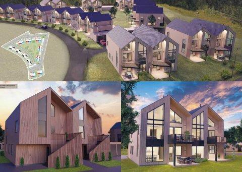 SOLGT FOR 100 MILL: I løpet av 2020 skal 36 nye boliger stå ferdig på Ormåsen i Vestfossen. Boligene er fordelt på 2-mannsboliger og 4-mannsboliger.