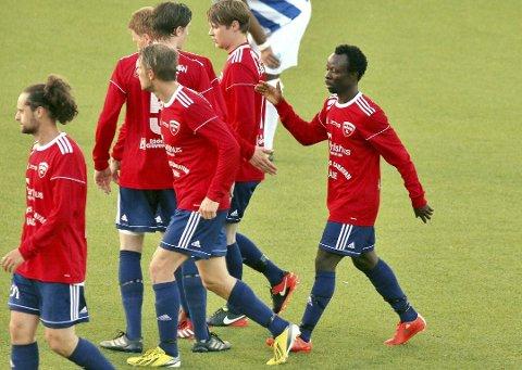 Scoret to: Julius Adaramola scoret to mål da Råde vant mot Sparta.