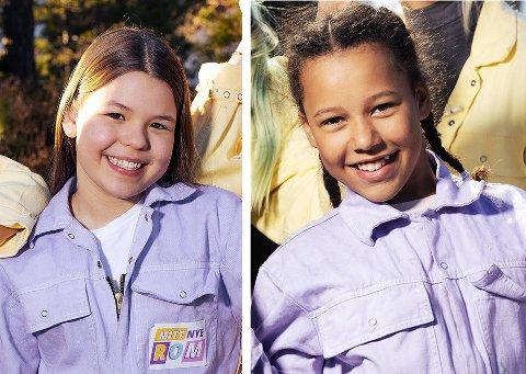 Lykke Brobakken (12 år, t.v.) fra Kråkerøy og Maria Pirmina Mbedule (11) fra Lisleby er begge å se i det nye TV2-programmet «Mitt nye rom».