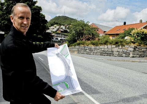 Tidligere plansjef i Gjesdal kommune, Erling Gundersen, forteller at det er leire i bakken under deler av Ålgård