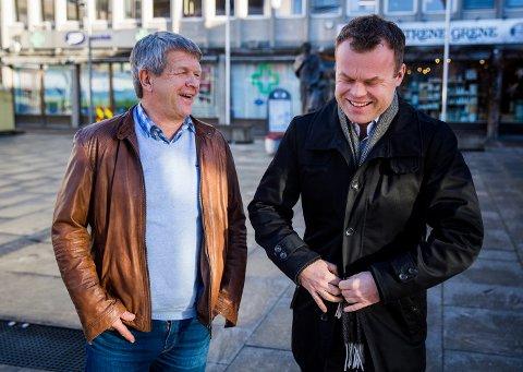 Leder i utvalg for plan og samfunnsutvikling Terje Rønning. Her sammen med ordfører i Lillehammer, Espen Granberg Johnsen.