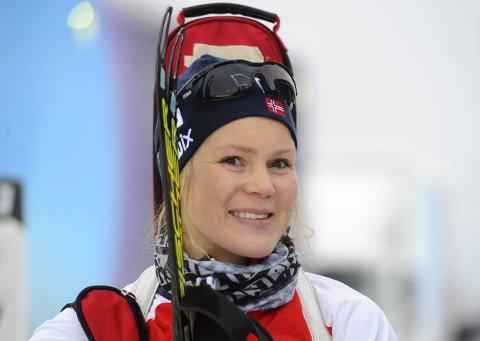 FJERDEPLASS: Karoline Knotten fikk sin beste plassering under IBU-cuprennet i Arber i helga. Med sin fjerdeplass er hun også klar for EM.