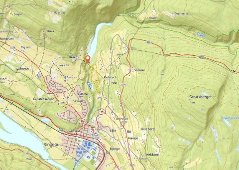 REDNINGSAKSJON: Vinkelfossen ligger drøye to kilometer nord-øst for Ringebu sentrum, Vålebru.