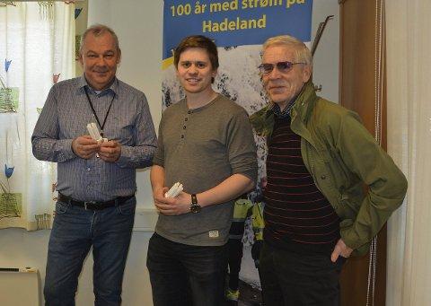 EARTH HOUR: Ivar Haakenstad, Audun Sivesindtajet og Svein Øverlier oppfordrer folk til å sku av strømmen 19. mars.