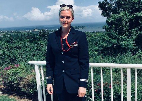 NY JOBB: Tonje Øsleby Stubberud jobber som kabinsjef i Norwegian, stasjonert på Martinique og Guadeloupe.