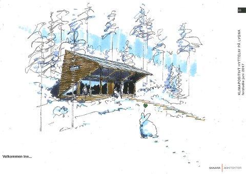 Er med videre: Slik kan en klimavennlig hytte bli seende ut. Nå går planleggingen av prosjektet videre.