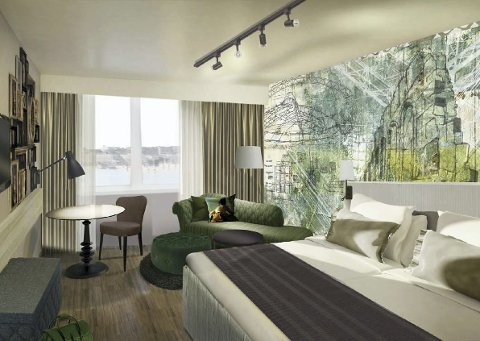 VIL SPEILE BYEN: Hotellet pusses opp etter Scandic-City-konseptet og en del av rommene får dekor som speiler Hamar.