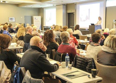 FULLT HUS: Termik Vefsn feirer 20 års jubileum med seminar og festmiddag. 120 deltakere fra hele landet er med for faglig påfyll og for å hylle jubilanten. Foto: Vegard Olsen