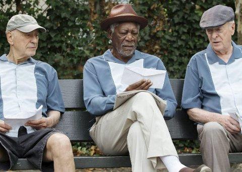 Desperate: Alan Arkin, Morgen Freeman og Michael Caine tar hevn over banken og de bankansatte som lurte fra dem pensjonspengene.
