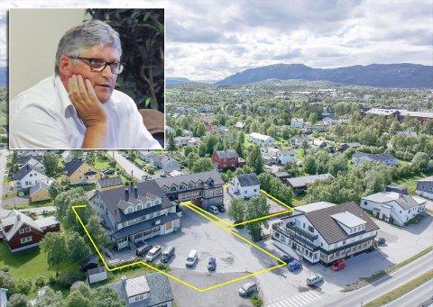 SELGER: Tor-Arne Pettersen selger arealene/eiendommen som har vært brukt til hotell, og nå leies ut som asylmottak.