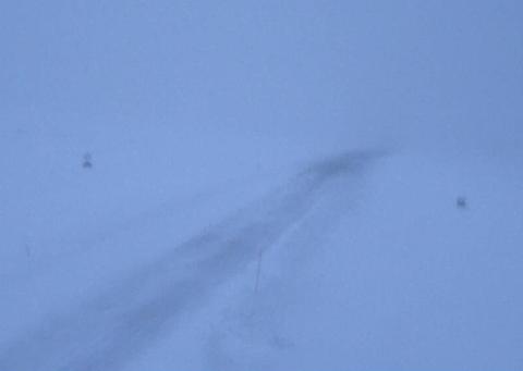 Slik ser det ut ved Nordkapp søndag morgen.