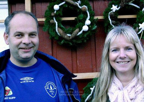Ove Byberg og Marit Byberg driver Voll Juletregard.