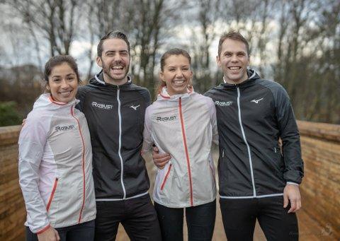 Kvartetten driver allerede et treningssenter på Bryne. Nå gleder de seg til å åpne i Sandnes. Caroline Zachariassen (f.v.), Lars Zachariassen, Ine Hebnes Gilje og Stian Hebnes Gilje.