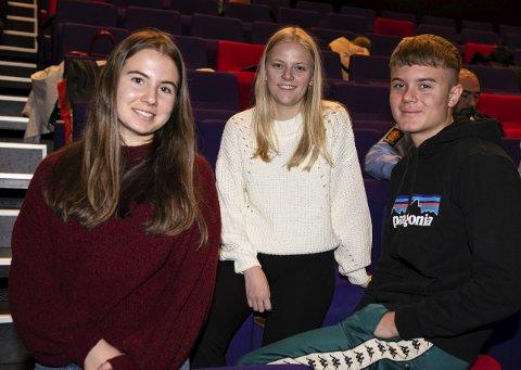 Elevrådsrepresentantar frå KVV: F.v. Kaia Vangsnes, Hanna Tvilde og Viljar Tveit.