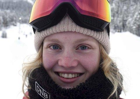 FJERDEPLASS: Tina Steffensen ble nummer fire i et FIS-renn i slopestyle på New Zealand.