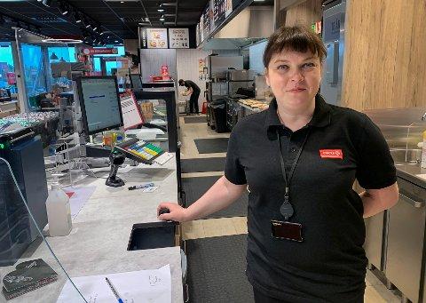 NY JOBB: Sandra Kuprevieciene har fått en ny mulighet ved Circle K Kongsbergporten.