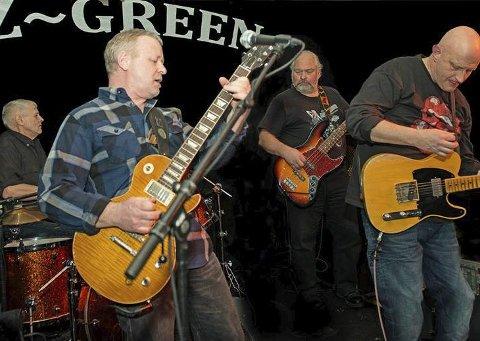ZZ Green: Bandet har musikere med lang fartstid innen blues og rock, og består av Morten Andresen, Sindre Matre, Einar Bruu og Odd Næss.