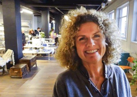 Grete Haaland er daglig leder i Fretex i Moss sentrum.