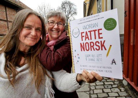 """FATTE NORSK: Anne Lene Johnsen og Elin Natås gir ut boka """"Hvordan fatte norsk - gjør det lett å skrive rett!""""."""