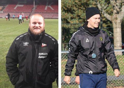 TATT UT: Øyvind Høgmo (t.h.) og Kristoffer Kolsrud er tatt ut som deltakere på NFFs trenerutdanning til UEFA A-lisens.