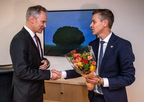 Jon-Ivar Nygård (Ap) hadde torsdag sin første dag i Samferdselsdepartementet hvor han tar over som Samferdselsminister etter Knut Arild Hareide (Krf).