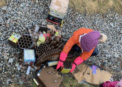 MYE SØPPEL: Barnehagen på Ørejordet finner stadig søppel i naturen.