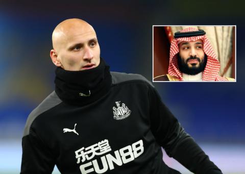 GLEDER SEG: Jonjo Shelvey er strålende fornøyd med at Newcastle har fått nye eiere. Selv håper han å få ta del i klubbens prosjekt.