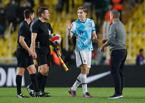 SCORET: Kristian Thorstvedt scoret Norges eneste mål mot Tyrkia.