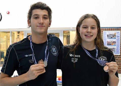 MEDALJØRER: Patrick Toth og Eva Kummen fikk med seg to medaljer hver fra Island.