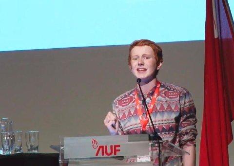LAGDE FURORE: Torje Hanssen under AUFs landsmøte i oktober 2015.