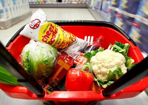 PRISOPPGANG: Matvareprisene steg med 3,1 prosent fra april til mai.