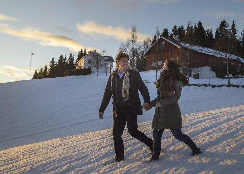 REETABLERT: Hjalmar og Kjersti Nørstebø-Solbjør skapte et nytt hjem sammen på Solbjør Gård.  FOTO: Heiko Junge/NTB scanpix