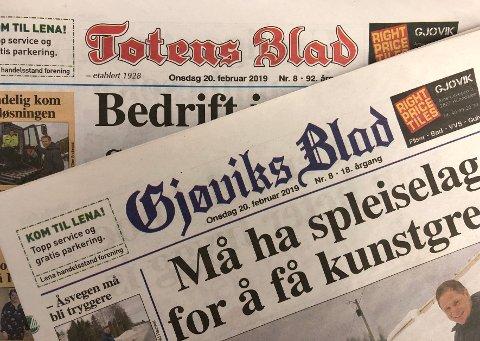 MÅ BETALE: Totens Blad og Gjøviks Blad har utredet og planlagt abonnementløsninger for å møte fremtidens utfordringer.