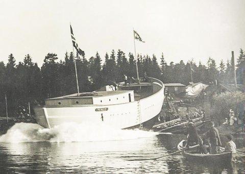 """SNART HJEMME: Polarskuta """"Maud""""  kommer  til Roald Amundsens hjem Uranienborg på Svartskog søndag 19. august."""