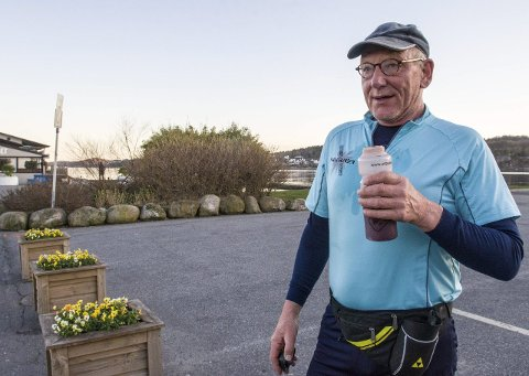 Gjennomførte nok en gang: Ettersom Odd Lars Bredal var forhindret fra å delta i Larviksløpet i morgen, fikk 68-åringen lov til å løpe tirsdag. Med det kan han fortsatt skryte av å samtlige utgaver av Larviksløpet på samvittigheten. I tillegg til samtlige utgaver av Brunlanesløpet, Kjoseløpet og Kodalmila.Foto: Thor Kenneth Løvenfalck