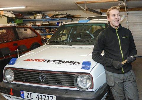 Vant igjen: Anders Kjær vant sin klasse etter å ha hatt comeback i rally-sirkuset i helgen. Selv med et dårlig utgangspunkt med manglende bildeler, var Kjær suveren. Arkivfoto