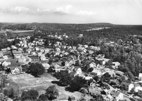 Østre Halsen med Kirkeløkka ca. 1955.