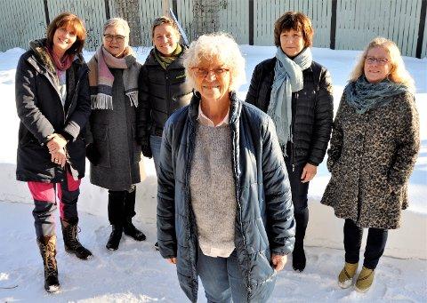 Sykepleier 74-årige Mai Britt Darefjeld (i front) fra Larvik har siden 2005 drevet frivillig hjelpearbeid i Guatemala. 8. mars er hun klar for ny jobbetur, sammen med f.v. Wenche Helmers fra Larvik, Elisabeth Mæland Andreassen fra Larvik, Caroline Haseid Halvorsen fra Nordstrand, Anne Mari Styrvold fra Larvik og Hanne Lunder fra Son.