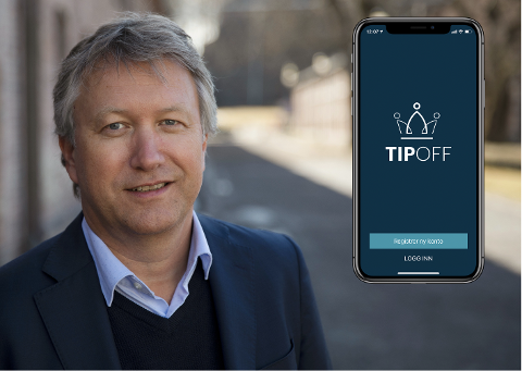APPEN: Ole Jan Rimstad fra Larvik er gründeren bak appen Tipoff.
