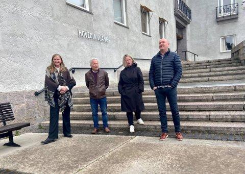 Fra venstre: Styreleder i Aukrust AS Astrid Hilde Semmingsen, leder av hovedkomiteen for Landsskytterstevnet Jo Stuan, daglig leder i ungdomssymfonikerne Anette Forsbakk, og daglig leder i Festspillene i Elverum Ørnulf Ring.