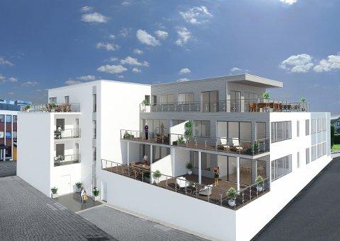 6 av de 10 planlagte, nye leilighetene i Lagunen Borettslag i Langesund er allerede solgt, etter at det var informasjonsmøte om prosjektet lørdag.