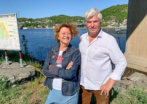 DEBATTLEDERE: Astrid Borchgrevink-Lund og Per Erik Andersen i Litteraturgarasjen. Sted og dato er Ælvespeilet søndag 19. september.