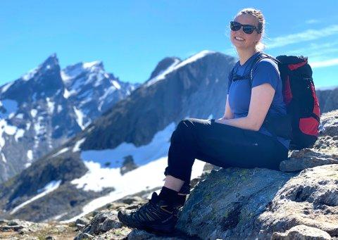 I FJELLET: Inger-Helene Graarud (29) trives på fjellet - og i hjemkommunen. Til sommeren tror hun hennes største øyeblikk i livet kommer.