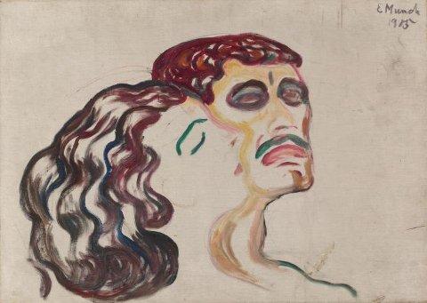 Utstillingens tittel, Hode ved hode - Cronqvist | Bjørlo | Munch, er hentet fra et Munch-maleri fra 1905. Det viser et kvinnehode som lener seg inntil et mannshode. Kvinnen lukker øynene tillitsfullt, mens mannen ser hardt og litt fjernt fremfor seg. Ubalansen i de to hodenes uttrykk sier noe om det komplekse forholdet mellom mennesker og hvor vanskelig det er å oppnå gjensidig tillit, trygghet og tilknytning. Denne psykologiske spenningen kan stå som en metafor for utstillingen som helhet, der Bjørlo og Cronqvist utforsker og synliggjør det ensomme, skjøre og sorgfulle ved vår moderne eksistens.