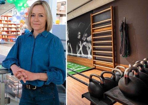 NY KURS: – Vi ønsker å satse mer på helse og velvære. Da er treningssenter et skritt i riktig retning, sier senterleder Anne Trine Høibakk på Kuben.