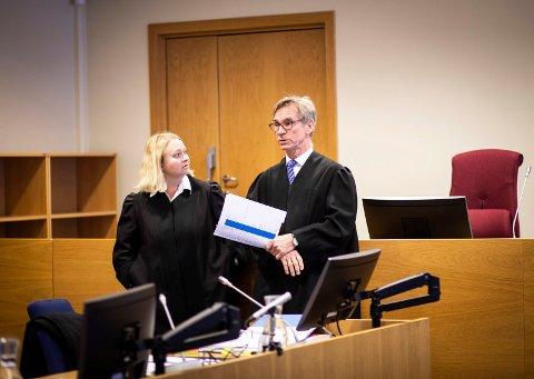 I RETTEN: Statsadvokat Guro Hansson Bull og bistandsadvokat Ole Edward Hagen.