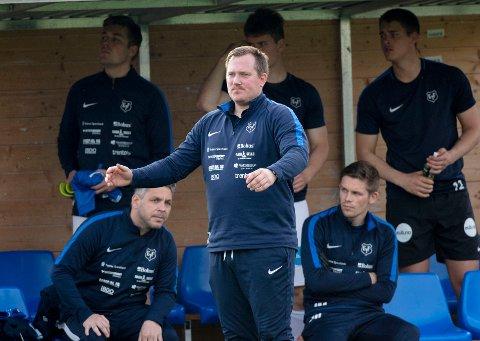 SKUFFET: Eidsvold Turn-trener Joakim Dragsten er skuffet over at Turn klappet sammen i Ålesund.