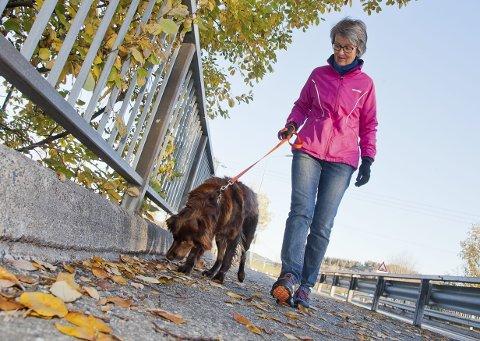 Advarer: Eva Graff fikk en opplevelsen med hunden Kira (6) hun sent vil glemme. Nå advarer hun andre hundeiere og ber dem passe godt på hva i forhold til hva hundene snuser på.